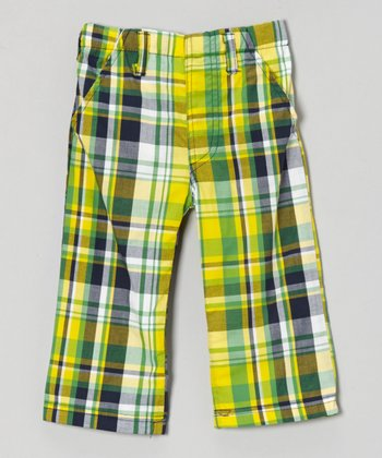 Green & Yellow Plaid Pants - Infant, Toddler & Boys