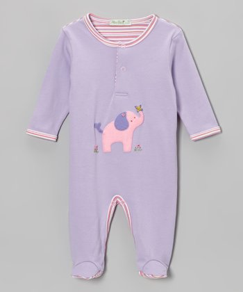Lilac Elephant Footie - Infant