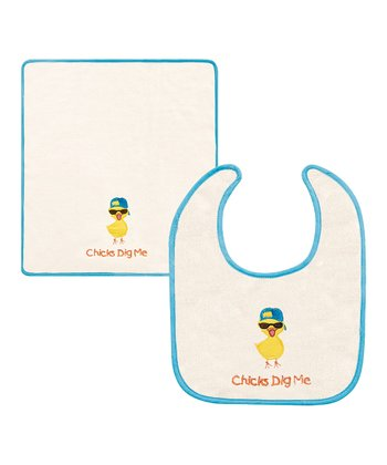'Chicks Dig Me' Bib & Burp Cloth