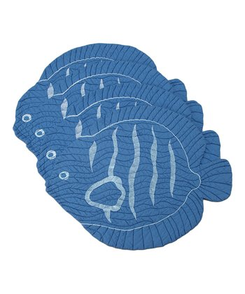 Blue Fish Place Mat - Set of Four