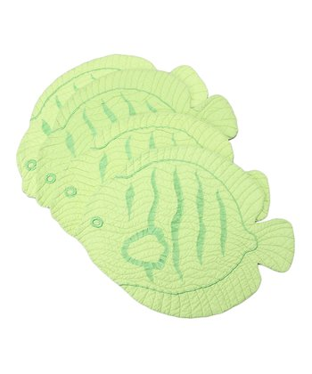 Green Fish Place Mat - Set of Four