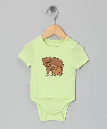 Lemongrass Bear Organic Layered Bodysuit - Infant