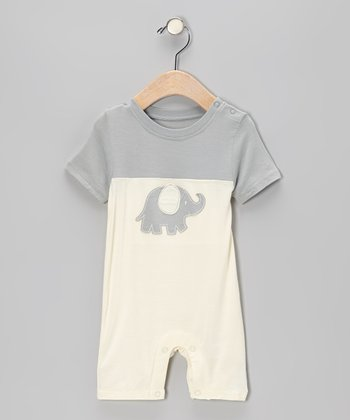Dove Elephant Organic Romper - Infant