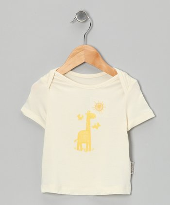 Natural & Butter Giraffe Organic Tee - Infant & Toddler