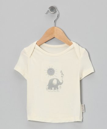 Natural & Dove Elephant Organic Tee - Infant & Toddler