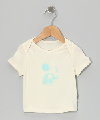 Natural & Pool Elephant Organic Tee - Infant & Toddler