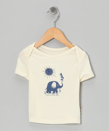 Natural & Twilight Elephant Organic Tee - Infant & Toddler