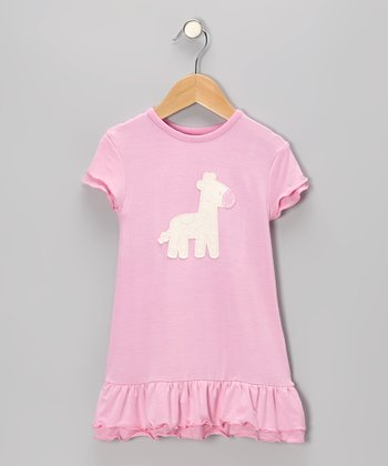 Rosie Giraffe Organic Ruffle Dress - Infant & Toddler