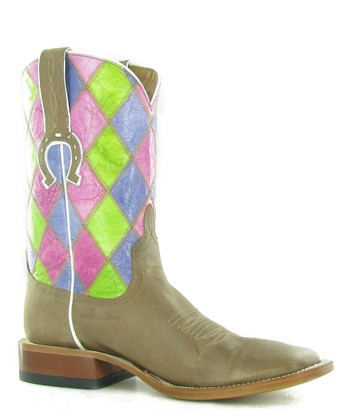 Tan Patchwork Boot - Women