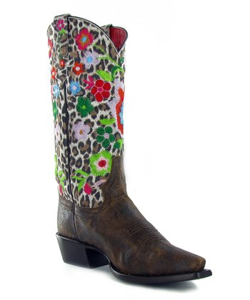 Leopard Floral Best Yet Boot - Women