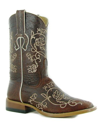 Natural White Heart & Lace Boot - Women