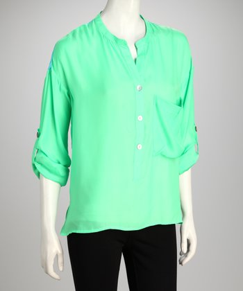 Hanna & Gracie Green & Turquoise Top
