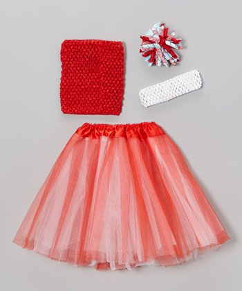 Red & Blue Tutu & Korker Clip Set