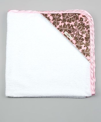 White & Blush Josephine Hooded Towel