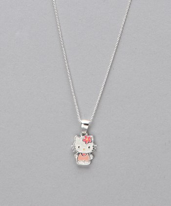 Pink & Sterling Silver Hello Kitty Pendant Necklace