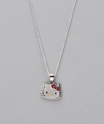 Red Bow Hello Kitty Pendant Necklace