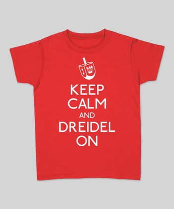 Red 'Keep Calm And Dreidel On' Tee - Women