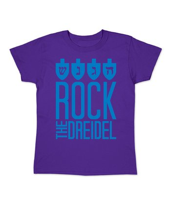 Purple 'Rock The Dreidel' Tee - Women