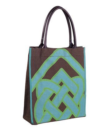 Brown & Blue Celtic Heritage Tote