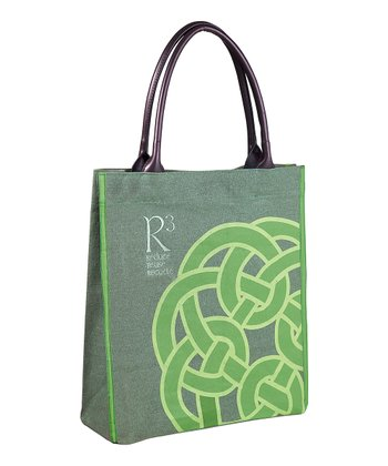 Green & Gray Irish Knot Tote