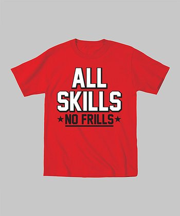 Red 'All Skills, No Frills' Tee - Toddler