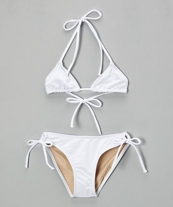 White Abby Bikini - Toddler & Girls