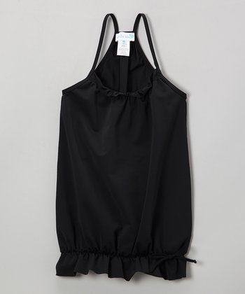 Black Bubble Racerback Cover-Up - Infant, Toddler & Girls
