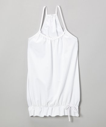White Bubble Racerback Cover-Up - Infant, Toddler & Girls
