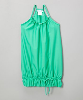 Seafoam Bubble Racerback Cover-Up - Infant, Toddler & Girls