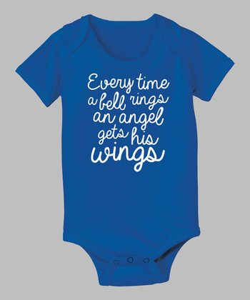Royal Blue 'Every Time a Bell Rings' Bodysuit - Infant
