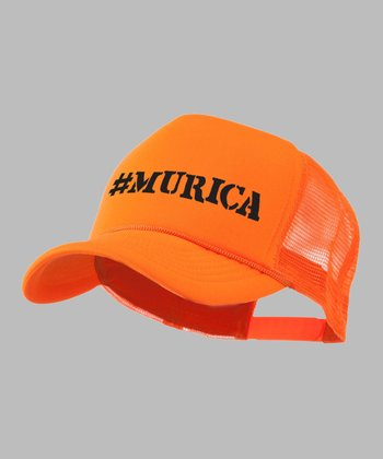 Bright Orange '#Murica' Trucker Hat