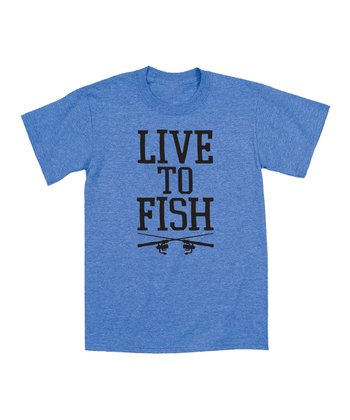 Royal Heather 'Live to Fish' Tee - Men