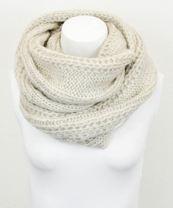 Leto Collection Khaki Cable Knit Infinity Scarf