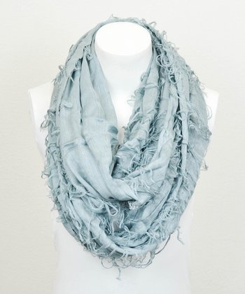 Leto Collection Slate Shredded Infinity Scarf