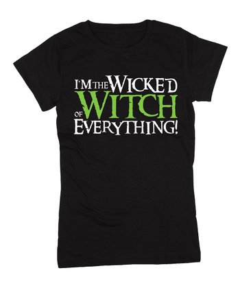 Black 'Wicked Witch of Everything' Fitted Tee - Girls