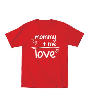 Red 'Mommy + Me = Love' Tee - Toddler & Kids