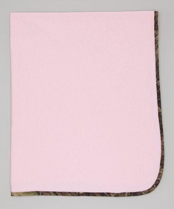 Pink & Camouflage Fleece Blanket