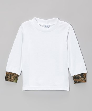 White & Camouflage Long-Sleeve Tee - Infant & Toddler