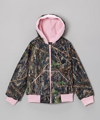 Pink & Camouflage Zip-Up Hoodie - Infant, Toddler & Girls