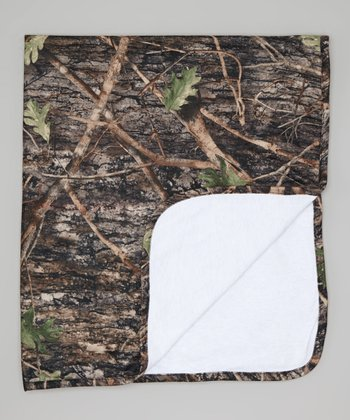 Conceal Green Camouflage Fleece Blanket