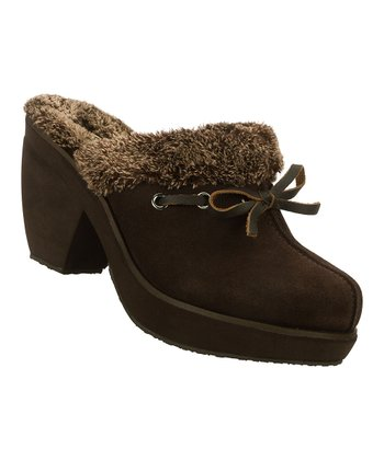 Chocolate Suede Mule