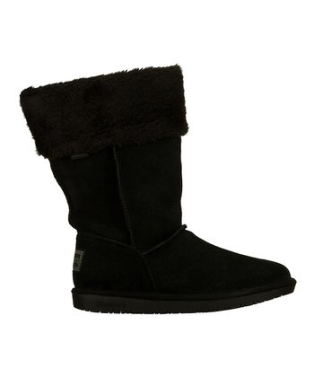 Black Suede Shelbys Plushy Boot