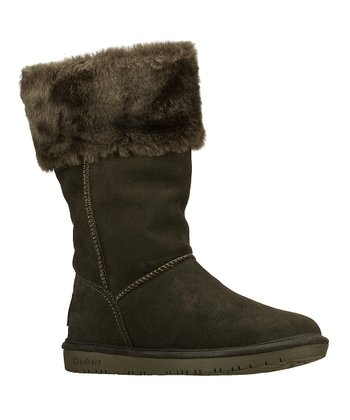 Gray Suede Shelbys Plushy Boot