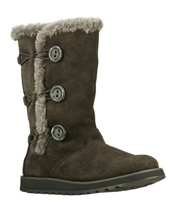 Gray Three-Button Boot