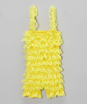 Yellow Lace Romper - Infant