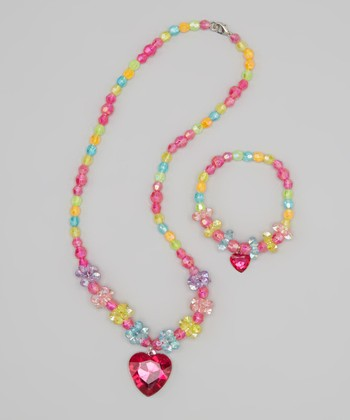 Rainbow Necklace & Bracelet Set