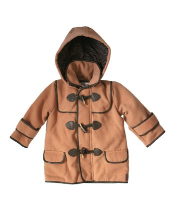 Oatmeal Toggle Hooded Coat - Infant, Toddler & Girls