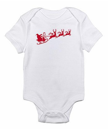 White Santa Red Bodysuit - Infant