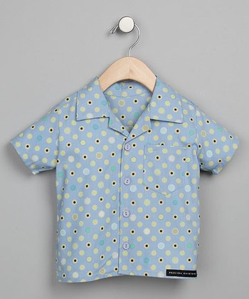 Blue Dot Retro Camp Shirt - Infant, Toddler & Boys