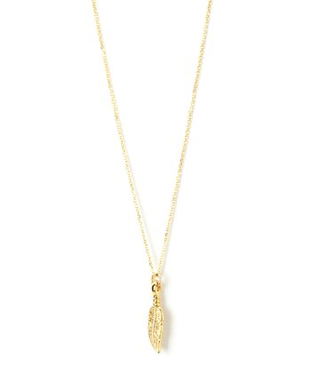 Gold Finch Charm Necklace